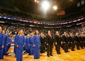 Le choeur du tabernacle mormon lors de la célébration de la fête d'indépendance américaine du 4 juillet