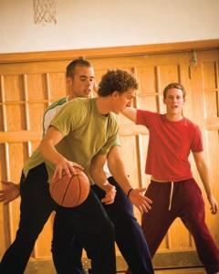 la jeunesse de l'Eglise mormone se réunit souvent pour des activités de tout genre dont des activités sportives