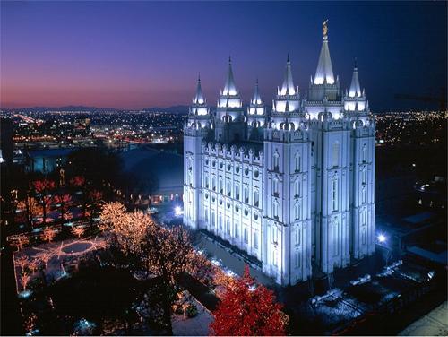 temple où les mormons performent des baptêmes pour les morts