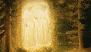 première vision de Joseph Smith Jr: le Père et le Fils devant lui