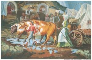 pionnières mormones traversant les plaines
