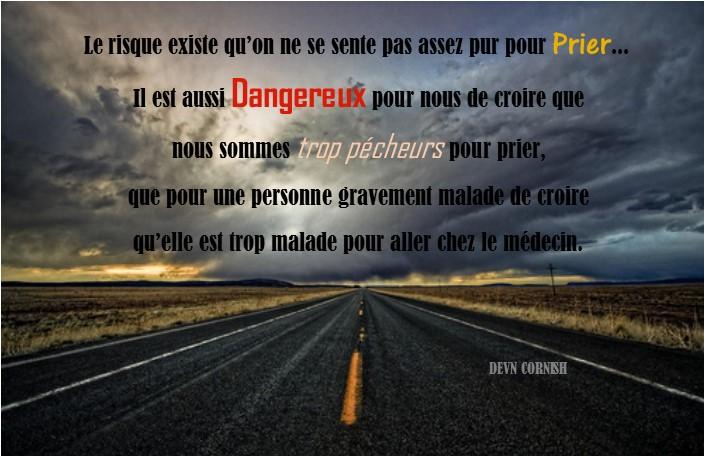 pas prier danger