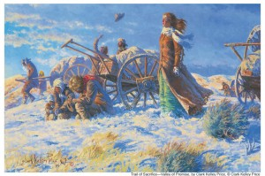 pionniers-charette-a-bras-salt-lake-mormon, pionnières mormones