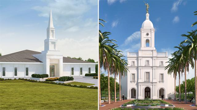Kinshasa and Barranquilla Mormon Temples