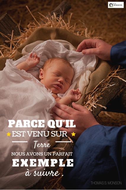 PARCE QU'IL est né. Noël plus authentique