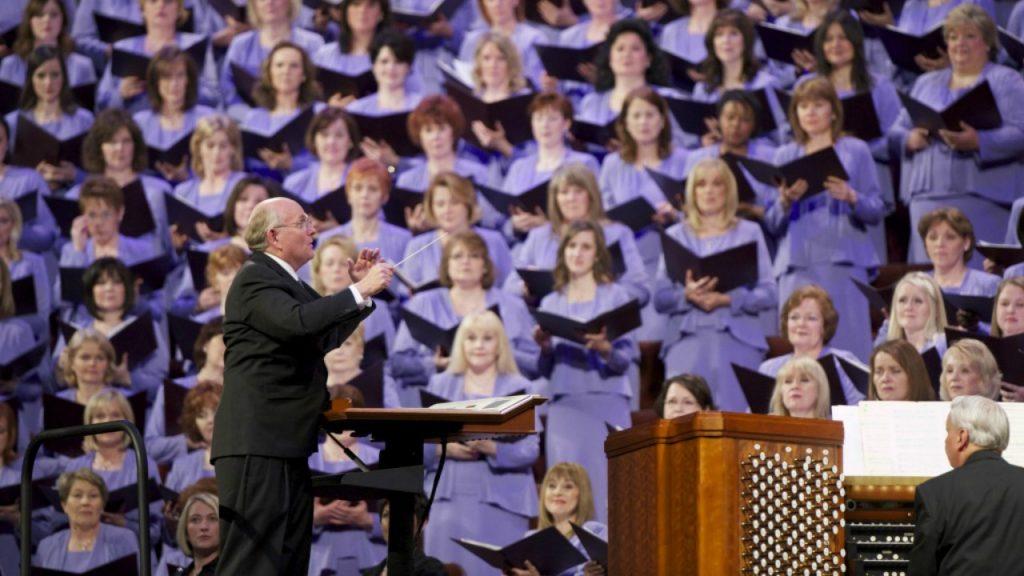 Le choeur du Tabernacle à la conférence générale