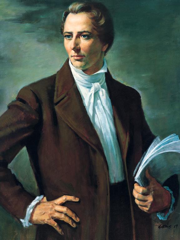 Peinture du prophète mormon Joseph Smith