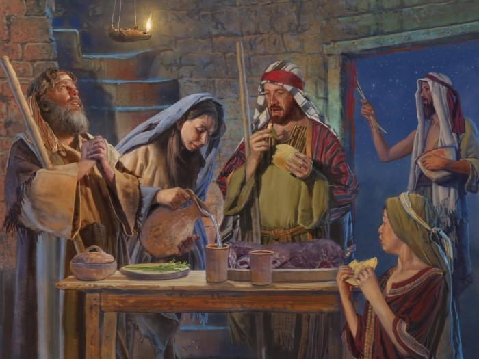 Israelites-Eat-Passover-Feast-700x525
