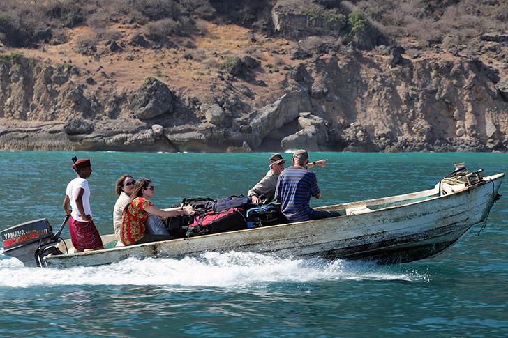 Khor-Kharfot accès par la mer