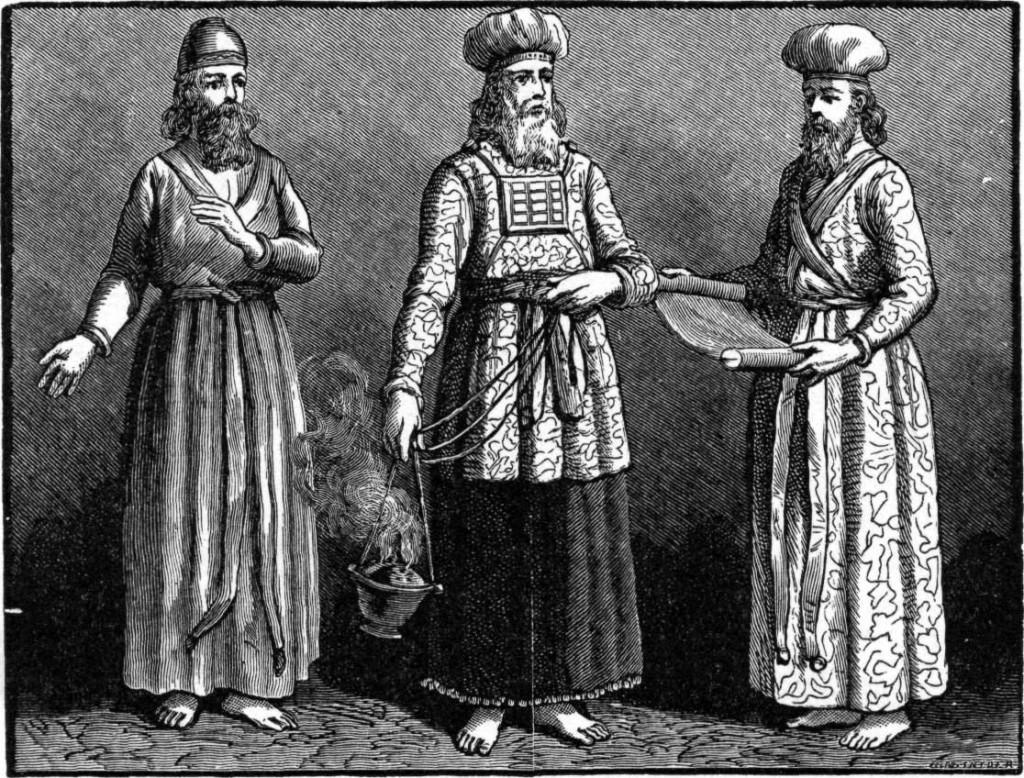 Grand-prêtre Juif vêtu du pectoral