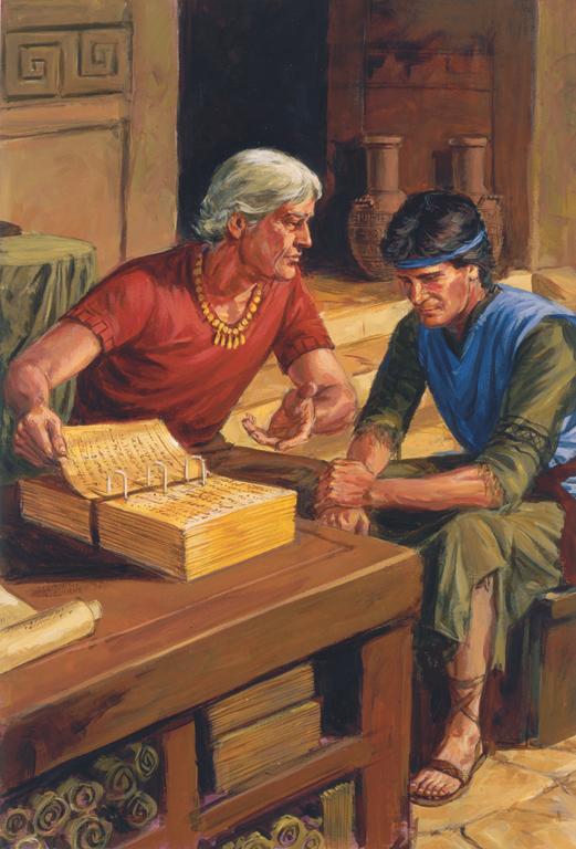 Livre de Mormon: Alma le Jeune conseillant son fils