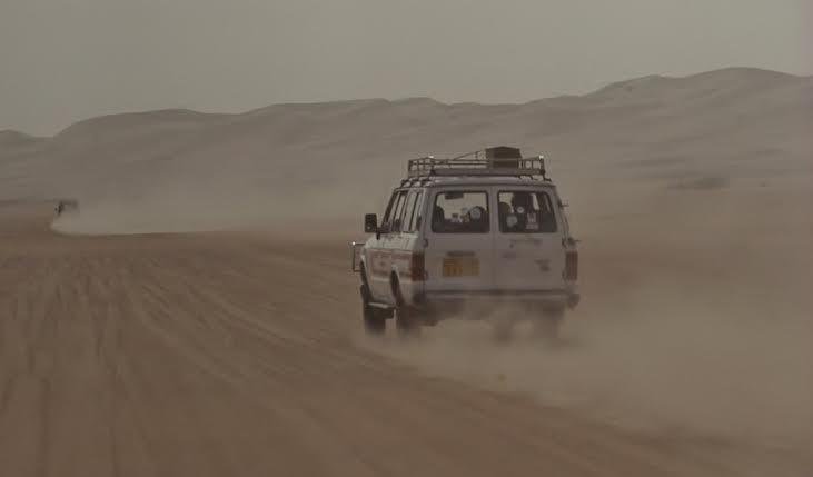 en route dans le désert
