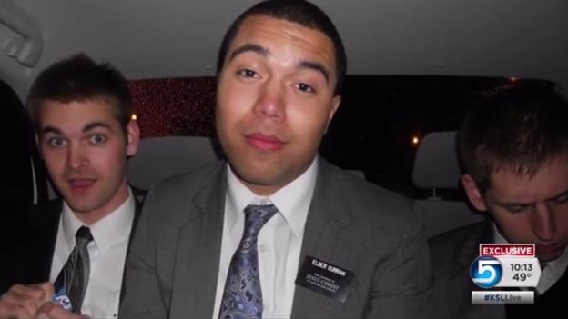Le chanteur de rap américain JamesTheMormon lors de sa mission. rappeur mormon