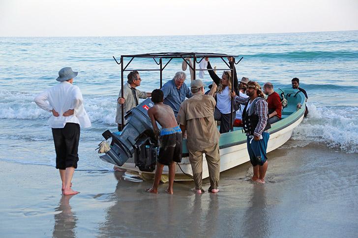 débarquement équipe fouilles Khor Kharfot