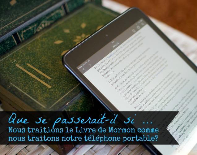 Téléphone portable Vs Livre de Mormon