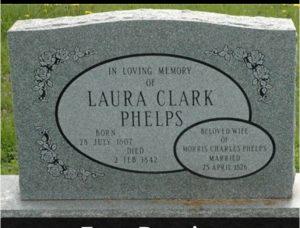 tombe de Laura Clark Phelps