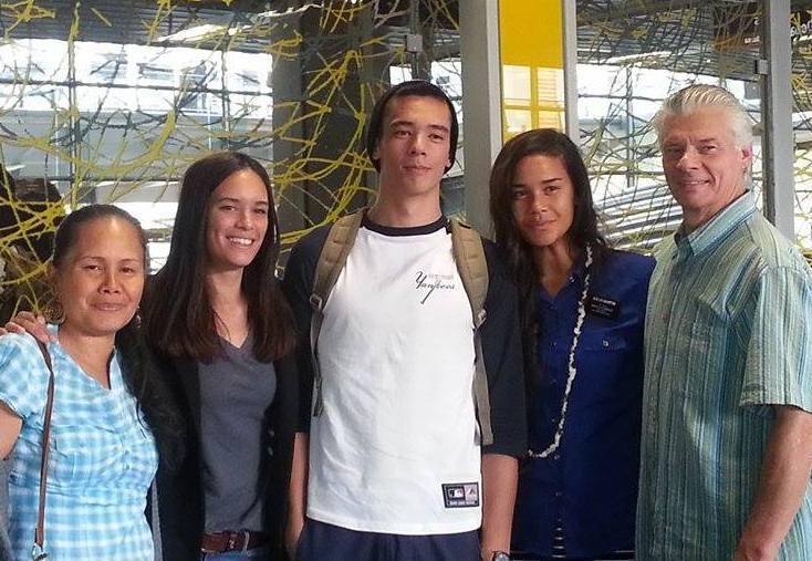 la famille Martin au retour de mission