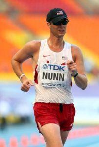 John Nunn participe aux jeux olympiques de Rio en marche