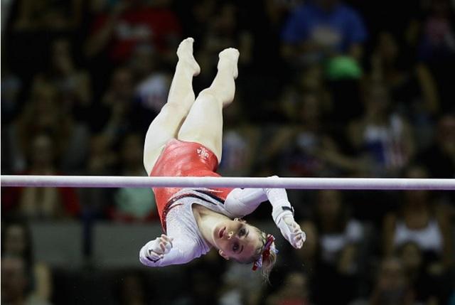 Mykayla Skinner participe aux jeux olympiques de Rio en gymnastique