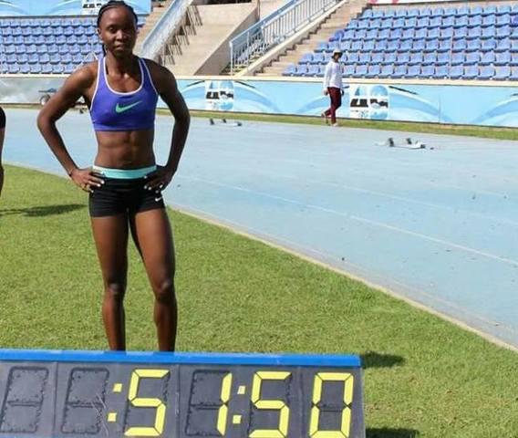 Lydia Casey Jele participe aux jeux olympiques de Rio en athlétisme