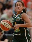 Leilani Mitchell a participé aux jeux olympiques de rio dans l'équipe de basket féminin australienne