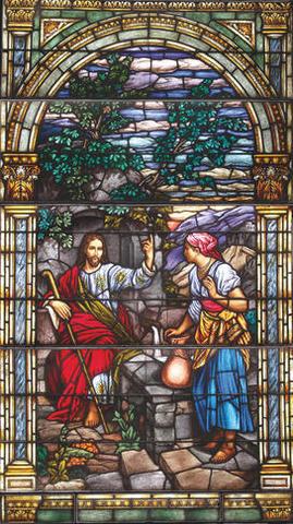 vitraux représentant Jésus: vitrail de l'exposition à BYU