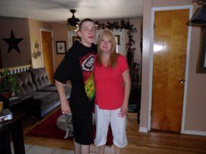Carlos avec sa mère