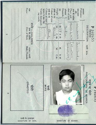 carte d'identité indienne de Taj donné aux couples américains. ils ignoraient que le garçon avait été kidnappé en Inde