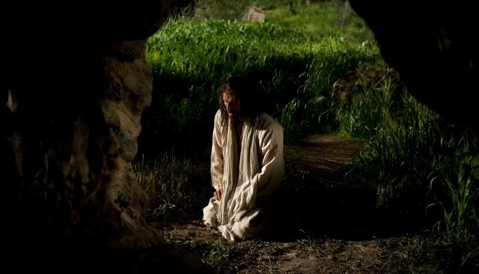 Jésus dans le jardin de Gethsémanée, priant et expiant pour les péchés et souffrances du monde
