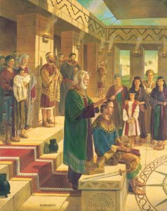 roi benjamin donne le royaume à Mosiah