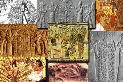Asherah était représentée par un arbre, d'où l'arbre de vie est liée à Marie