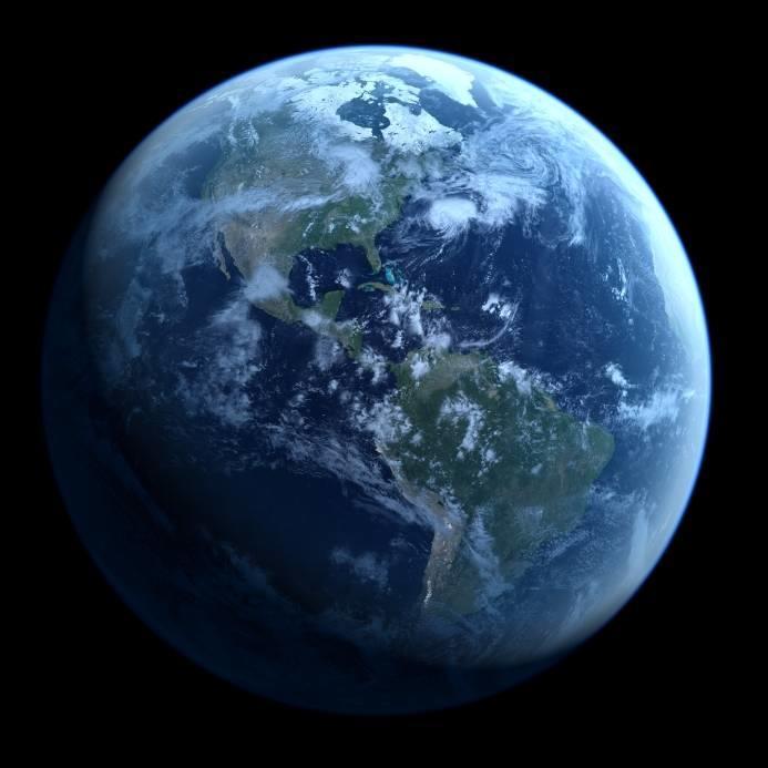 la terre vue de l'espace avec les Amériques bien visibles