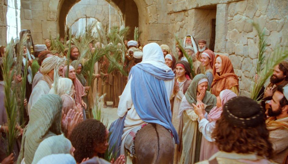 l'entrée triomphale de Jésus à Jérusalem