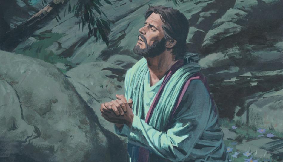 Jésus priant à Gethsémané, se préparer pour Pâques passe par comprendre l'Expiation du Sauveur