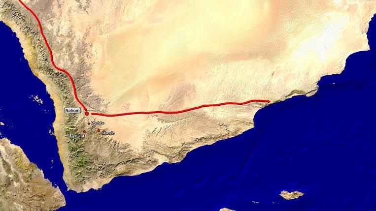 chemin de Léhi et sa famille dans la péninsule arabique