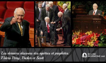 Derniers discours de conférence générale des apôtres Perry, Packer et Scott