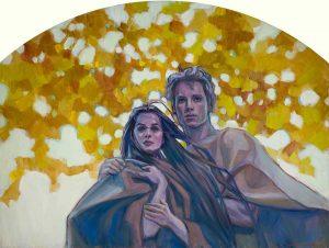 Adam et Eve sortent du jardin d'Eden