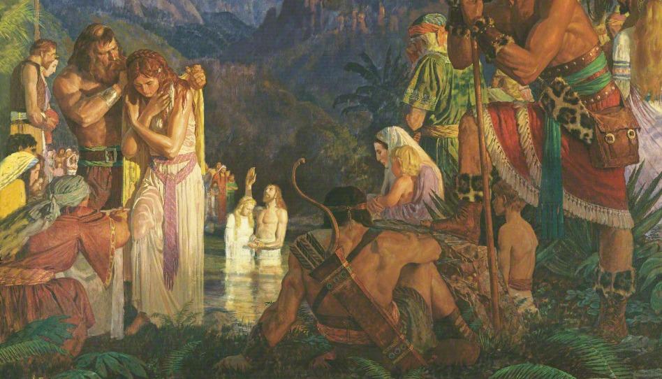 Alma baptise aux eaux de Mormon