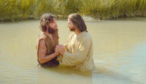 le baptême du Christ par Jean le Baptiste