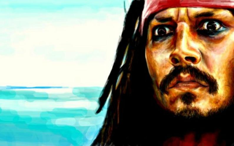 peinture du portrait de Jack Sparrow