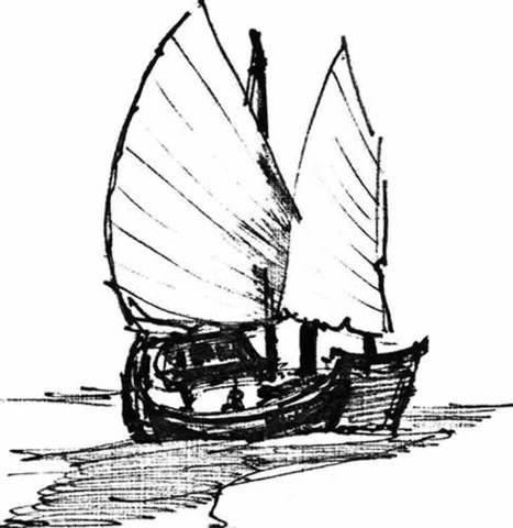 dessin de bateau par Henry B. Eyring