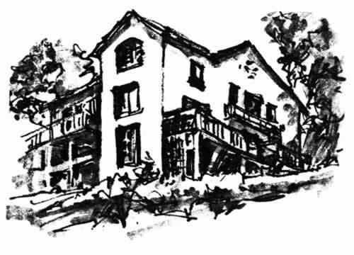croquis par Henry B. Eyring d'une maison