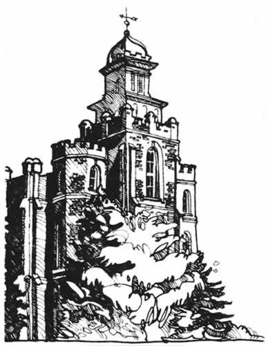 croquis d'un temple