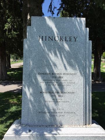 tombe Gordon B Hinckley