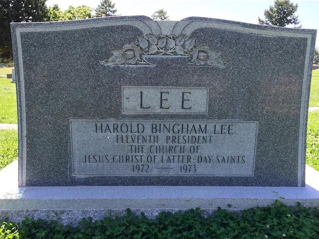 phot tombe Harold B Lee