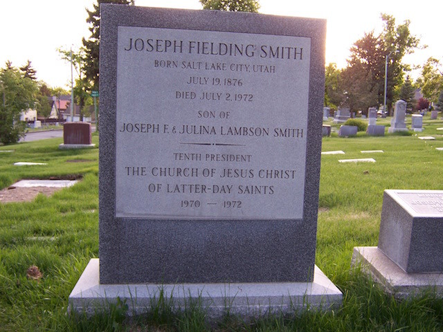 photo tombe Joseph Fielding Smith
