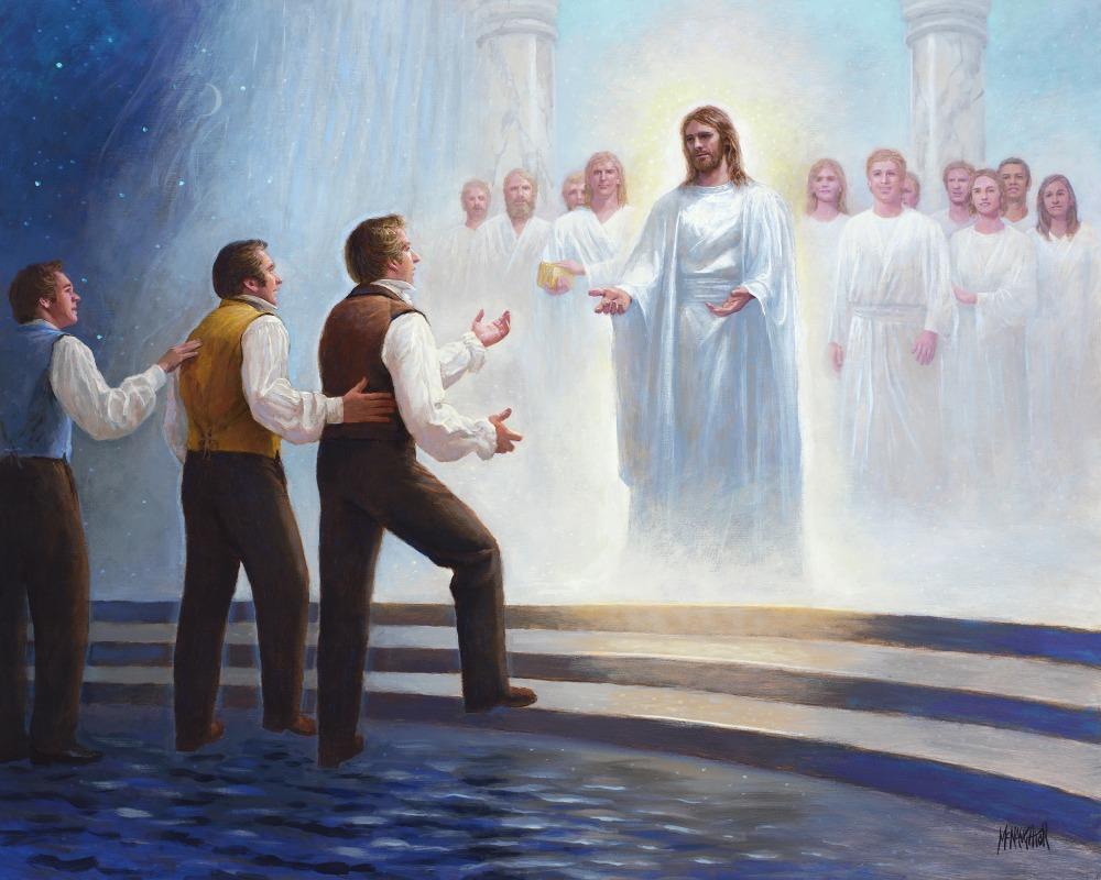 le dernier rêve de Joseph Smith: peinture jmJosephAndChrist 001