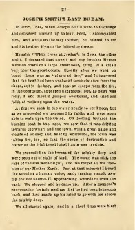 le dernier rêve de Joseph Smith, extrait du journal de W W Phelps