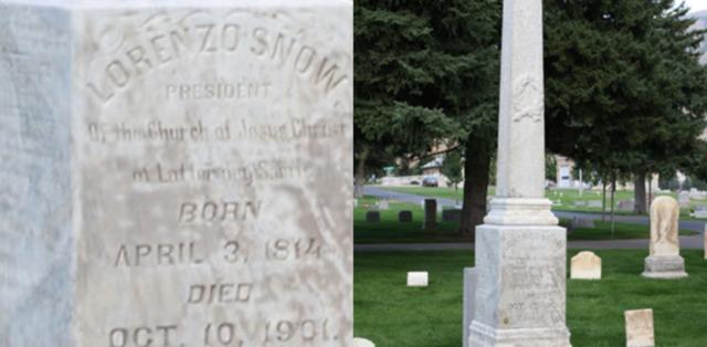 tombe de Lorenzo Snow