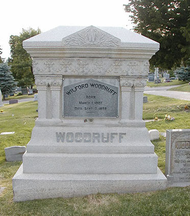 tombe de Wilford Woodruff